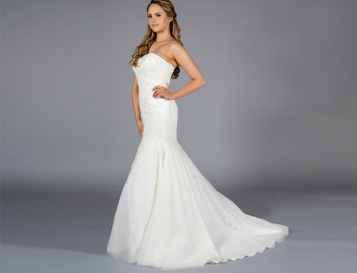 Lace Corseted Fishtail Gown