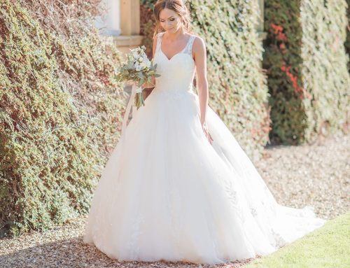 Stunning Champagne Cathedral Gown
